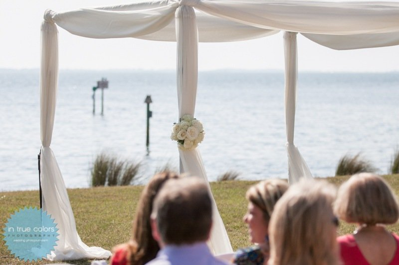 open top canopy for destination wedding, powel crosley estate