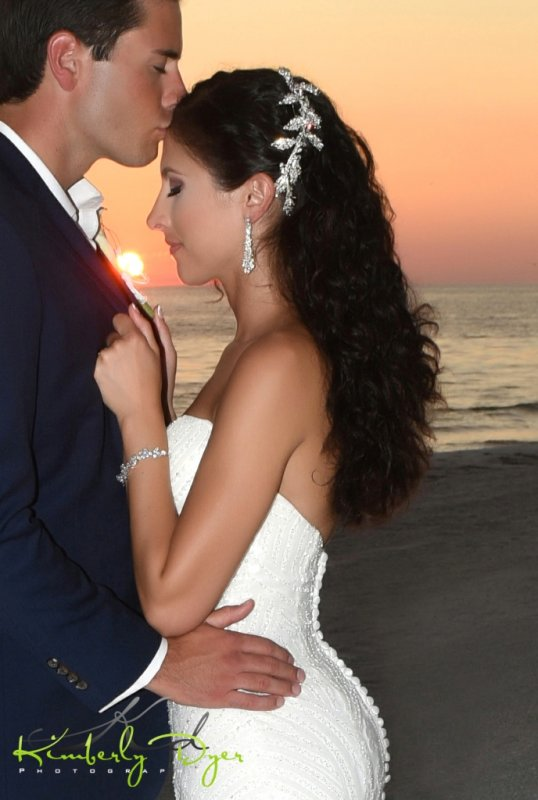 Bride and Groom Sunset Picture