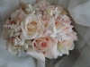 mixed garden bridal bouquet stephanotis roses