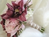 bridal bouquet peonies orchids