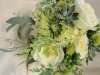 garden-roses-and-suculents in bridal bouquet