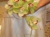 bridal bouquet of green cymbidium
