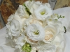 bridal bouquet of freesia roses lisianthus