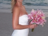 Bridal bouquet of pink oriental lilies