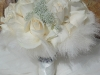 bridal bouquet-with collar of feathers