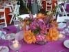 Centerpiece on Hot pink linens