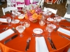 Centerpiece for Wedding w orange Linens