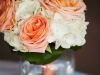 Peach and white bridesmaids bouquet