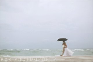 bride-and-groom-with-beach-umbrellas