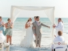 Babmoo arch with wedding couple on Siesta Key