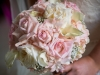 Bridal bouquet in pink and white roses