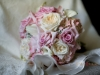 Bridal bouquet of garden roses Pink Sophie roses hydrangea and mini calla