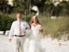 Bride and father on the beach at Capri Resort Siesta
