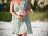 Bridesmaid pink flower bouquet with hydrangea and roses