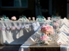 U-Shaped Feasting table in pinks and blues at Capri Resort