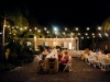 Lighting for night time wedding at Capri