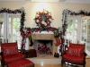 Wreath and mantel Christmas Decor