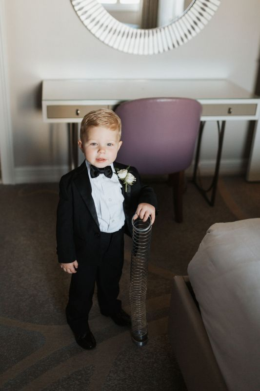 Ring Bearer with Double Spray Rose