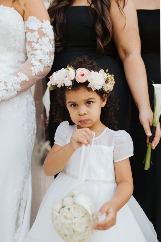Close Up of Flower Girl