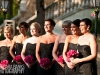 Bridesmaids bouquets in shades of pink