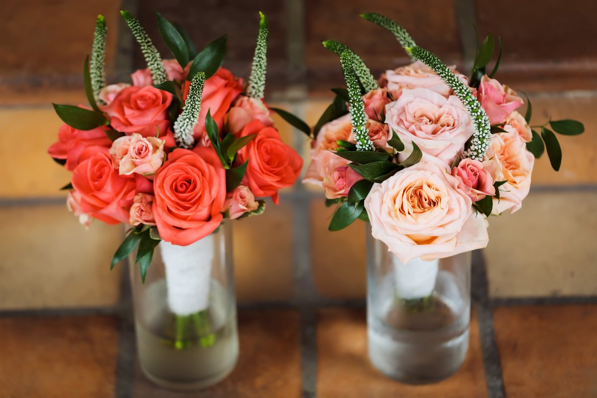 Bridesmaids' Bouquet of Corals and Peaches