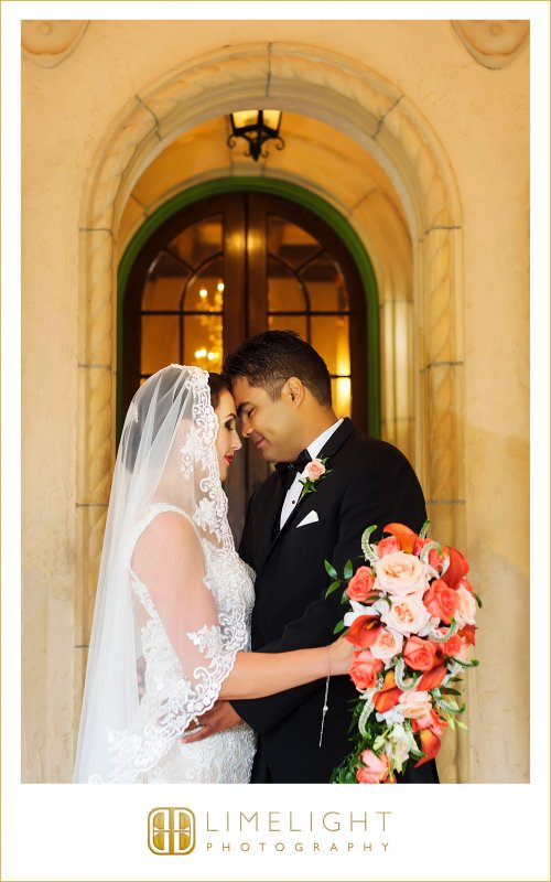 Bride and Groom with Bouquet and Boutonniere