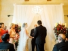 Ceremony with Lanterns on Aisle Plus Candelabras with Flowers and Draping