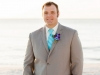 Groom with Blue Boutonnière