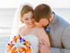 Beautiful Blue and Orange Bridal Bouquet