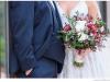 Bridal Bouquet with Veronica Flower, Burgundy Flower, Dahlias, Garden Rose, Parvifolia Eucalyptus,  Seeded Eucalyptus