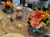 Tropical wedding centerpieces with candles