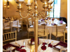 Gold Candelabra with Gold Candle Holders