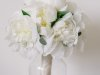 All -White Bridal Bouquet with Gorgeous Peonies