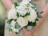Pretty Close-Up of  All-White Bridesmaids' Bouquet