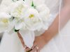 Stunning Close-up of All-White Peonies Bridal Bouquet