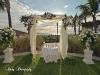 Wedding arch on lawn at Ritz Carlton