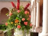 Floral urn at Ringling Courtyard