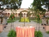 Sweetheart table at Ringling Courtyard