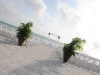 Beach wedding with bamboo arch