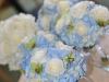 blue and white bridal bouquets