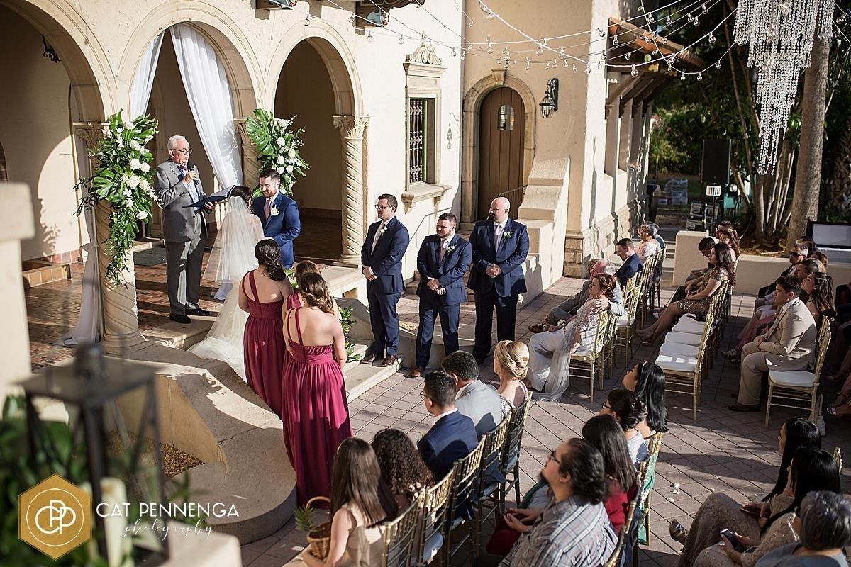 Ceremony at Powel Crosley Estate on Loggia