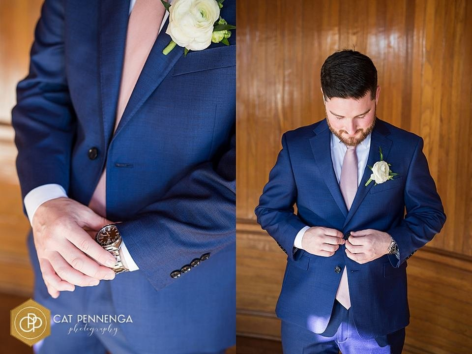 Groom with Ranunculus Boutonniere