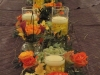 Wedding feasting table-orange and gold flowers
