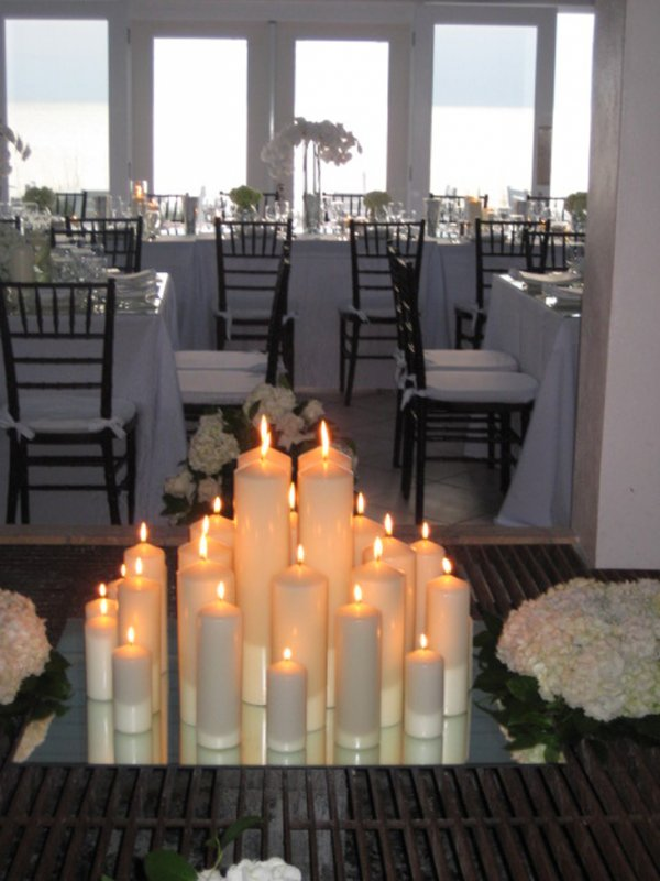 Candel light wedding-fireplace