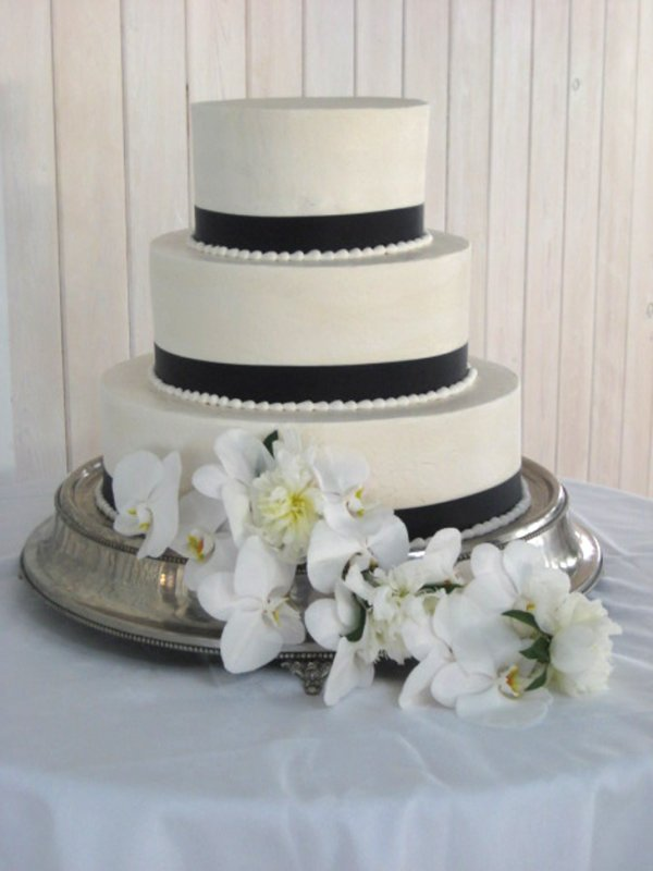 Phalanopsis orchids-and-white -peonies Cake flowers