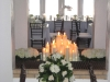 Candle lite fireplace for wedding