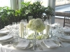 White hydrangea wedding guest table centerpieces