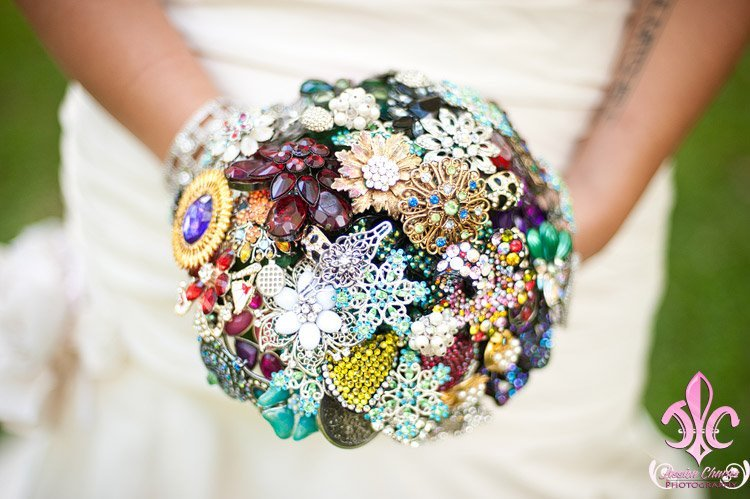 jewel- bridal bouquet