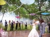 Outdoor wedding under the stars and umbrellaspy