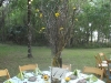 centerpieces-of-branches-with-sunflowers